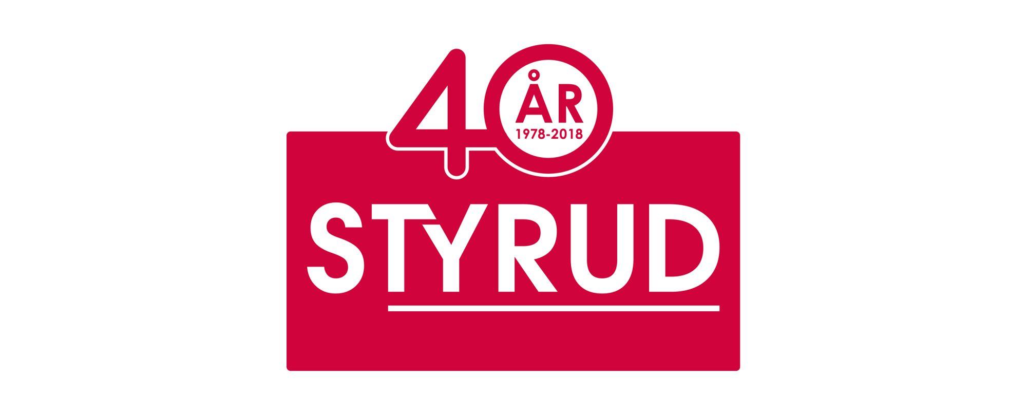 Logo 40år - Styrud