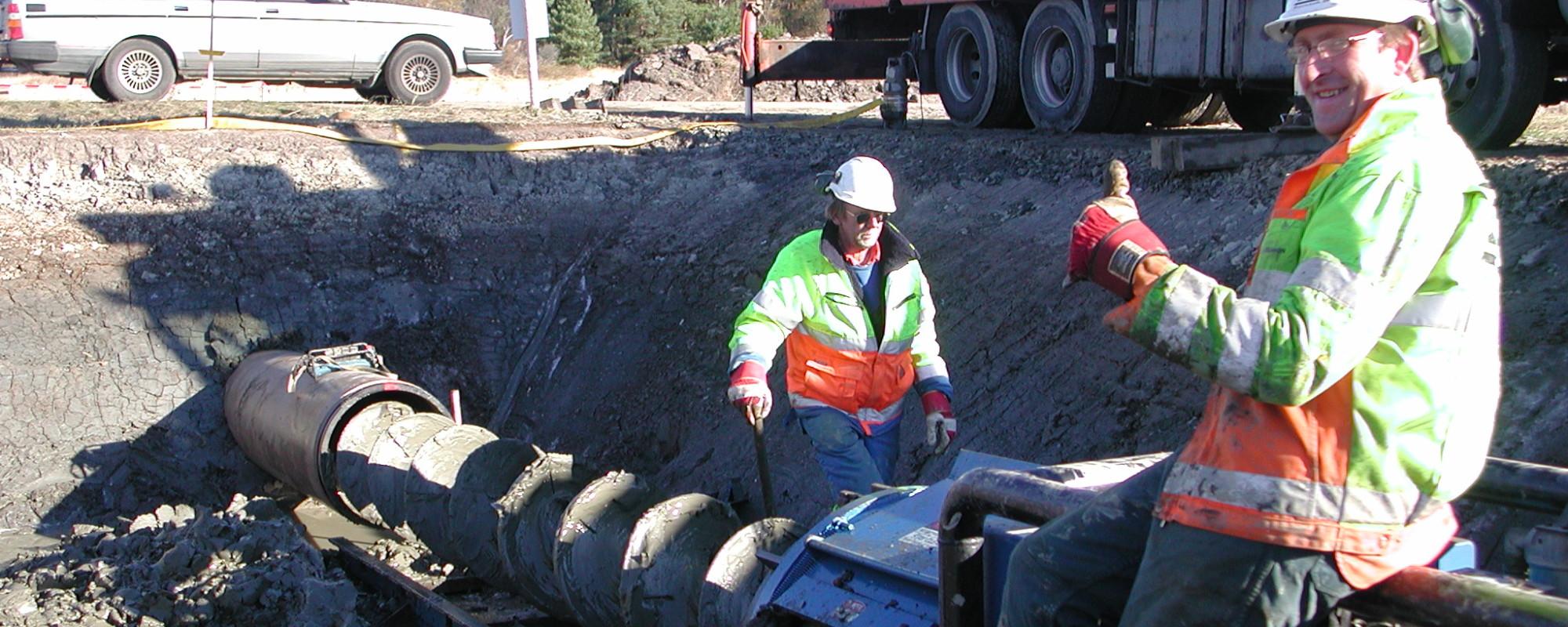 Augerborrning av skyddsrör för gasledning - Säve